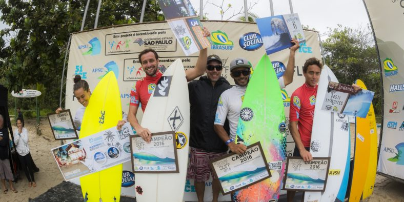 Condições históricas na etapa final do 18º Circuito Paulista Universitário de Surf