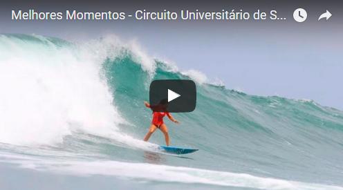 Vídeo: Melhores Momentos – Circuito Universitário de Surf 2015