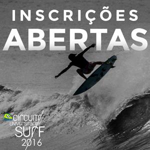 Inscrições abertas – 18º Circuito Paulista Universitário de Surf