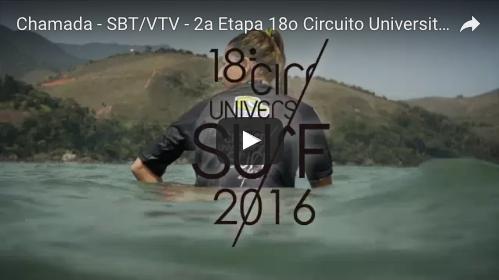Chamada VTV/SBT – 2ª etapa do 18º Circuito Paulista Universitário de Surf