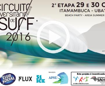 Filme completo – 2a Etapa Circuito Universitário de Surf
