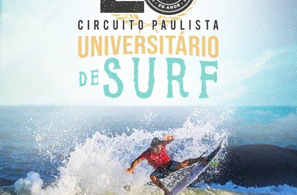 CIRCUITO PAULISTA UNIVERSITÁRIO DE SURF COMEMORA 20 ANOS