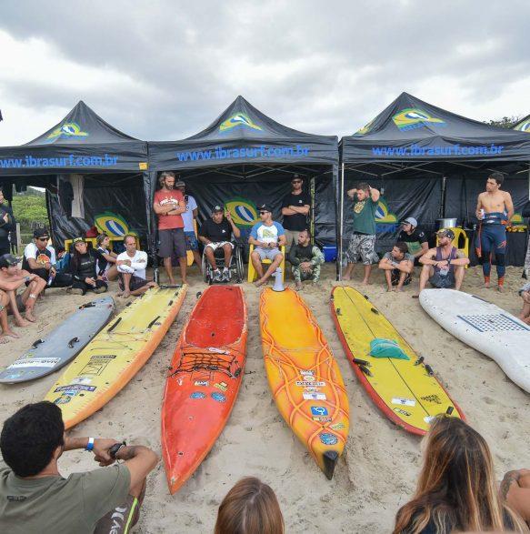 Palestrante Robson Careca, durante o 20o Curso de Instrutores de SURF e SUP - Foto Henrique Tricca