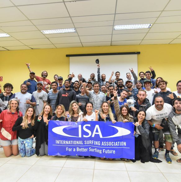 Aula teórica - ISA Level 1 Surf Instructor - Foto: Henrique Tricca